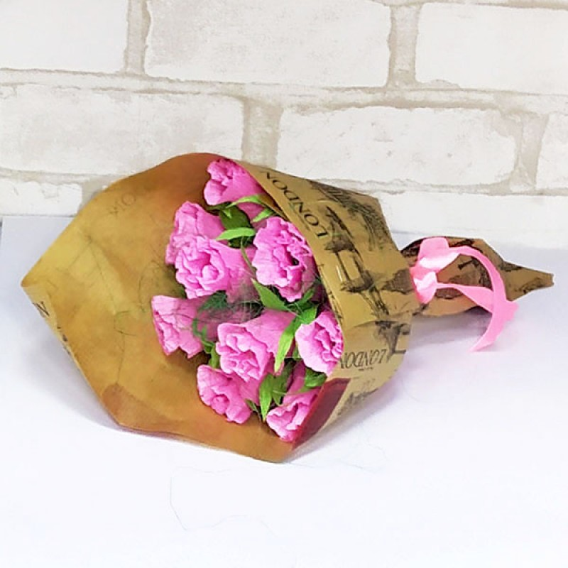 Букет из конфет Розы 9 крафт