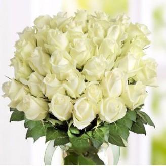 Букет из цветов Розы 41 белые