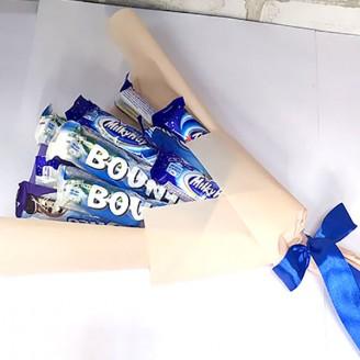 Букет из конфет Синяя сладость