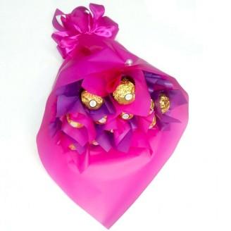 Букет з цукерок  Ферреро роше 16 Крафт