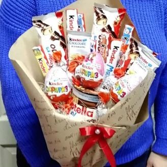Букет з цукерок Кіндер крафт
