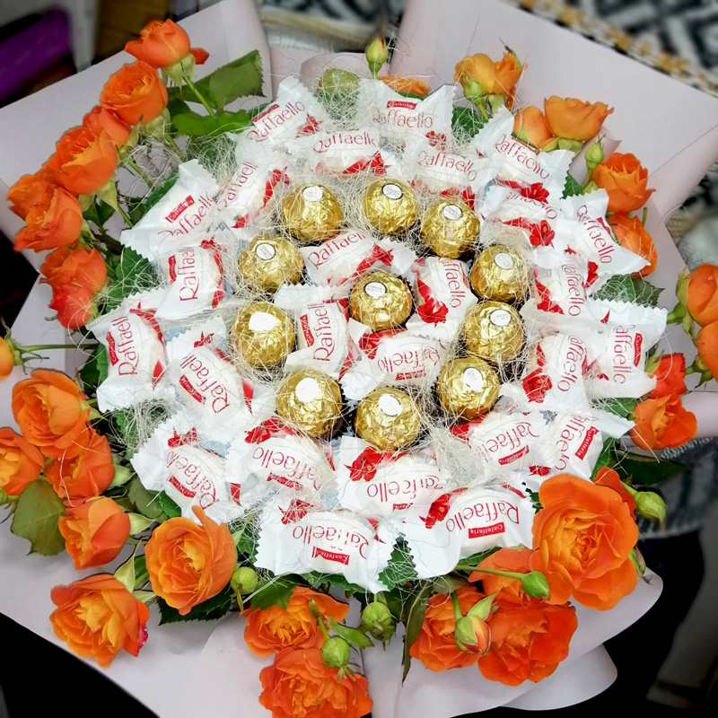 Букет з цукерок Подвійна ніжність