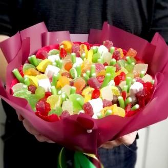 Букет з цукерок Кольорові акценти