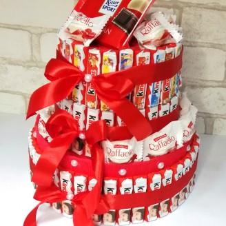 Букет з цукерок Кіндер торт великий