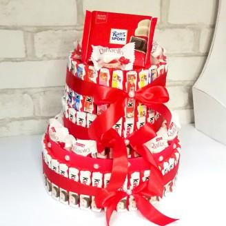 Букет из конфет Киндер торт большой