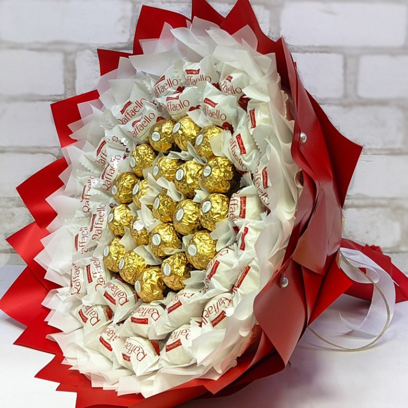 Букет з цукерок Плеяда фереро роше та рафаело