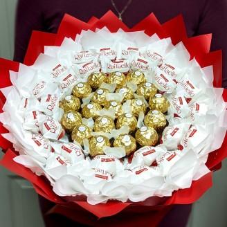 Букет из конфет Плеяда ферреро роше и рафаэлло