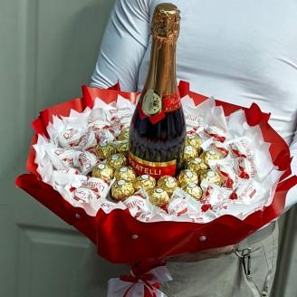 Букет з цукерок Шампань