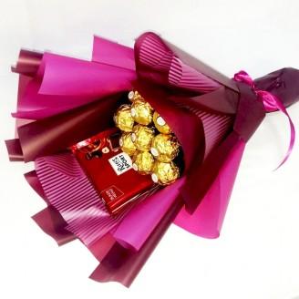 Букет из конфет Пурпурное золото