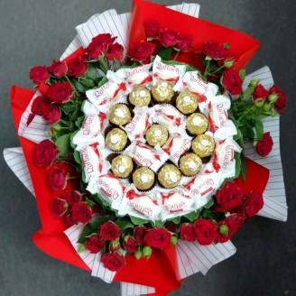 Букет из конфет Нежное прикосновение
