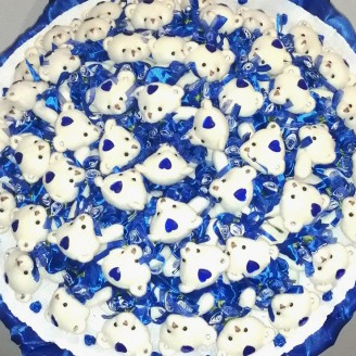 Букет из игрушек Мишки 51 синий
