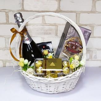 Подарочный набор Корзина Элитный алкоголь