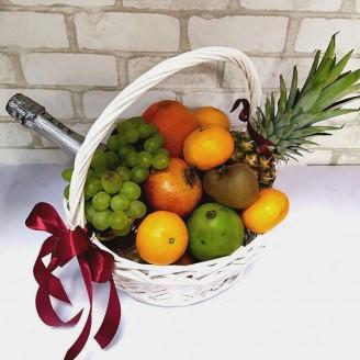 Подарочный набор Корзина Мартини асти и фрукты