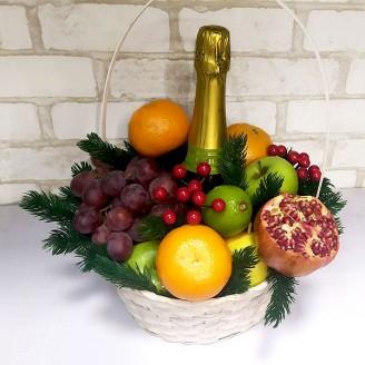 Подарочный набор Корзина фрукты и фраголино
