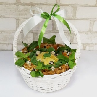 Подарочный набор Мини корзина сухофруктов