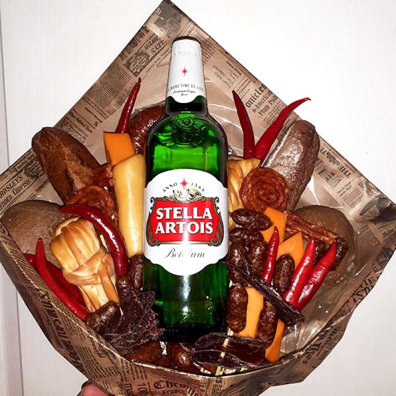 Подарунковий букет Пиво та ковбаски