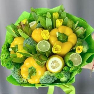 Подарочный букет Овощной бум