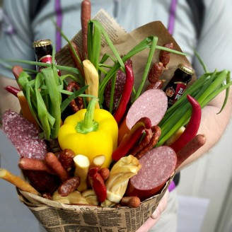 Подарочный букет Аппетитные колбаски