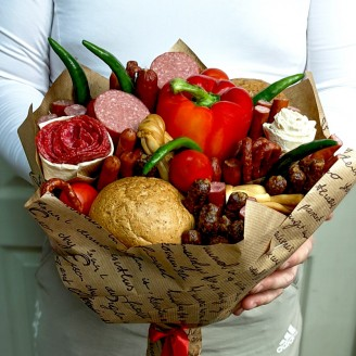Подарочный букет Колбаски