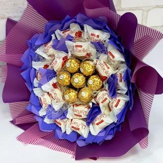 Букет из конфет Благородный фиолет