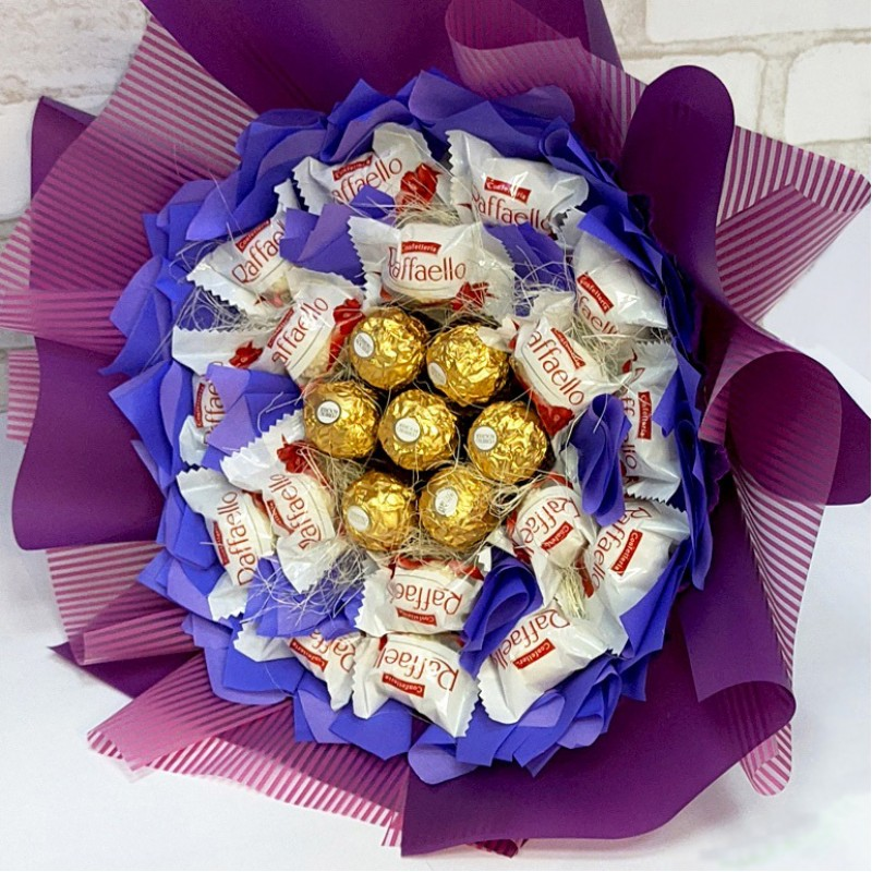 Букет з цукерок Шляхетний фіолет