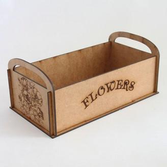Декоративная деревянная коробка Flowers