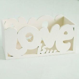 Декоративная коробка Love айвори