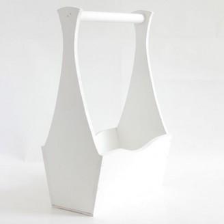 Декоративный белый ящик