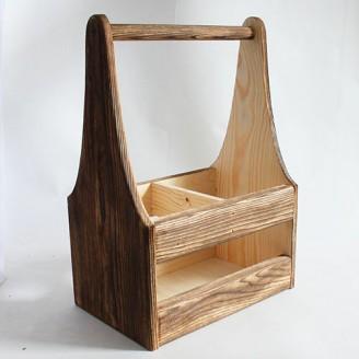Декоративный деревянный ящичек с высокой ручкой