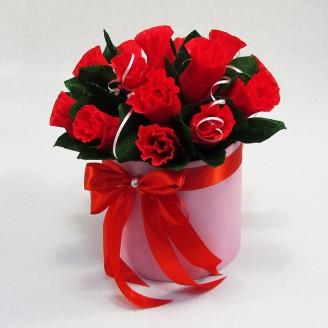 Букет из конфет Розы 15 в коробочке