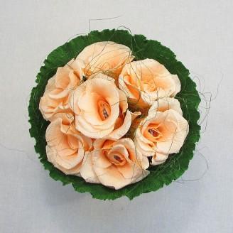 Букет из конфет Розы 7 персиковые