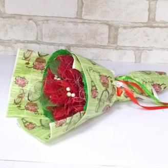 Букет из конфет Огненные цветы 7