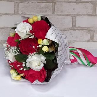 Букет из конфет Розы и чай