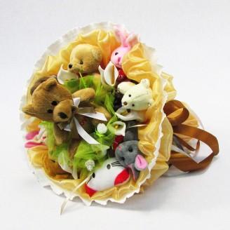 Букет из игрушек Друзья Медвежонка