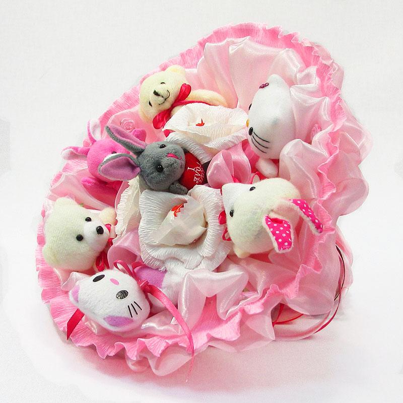 Букет из игрушек Зоопарк с рафаэлло