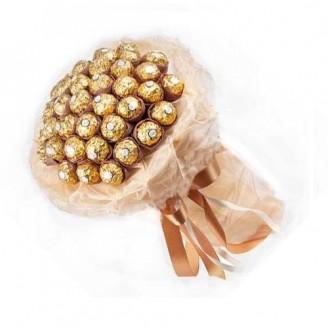 Букет з цукерок Ферреро Роше золотий 29
