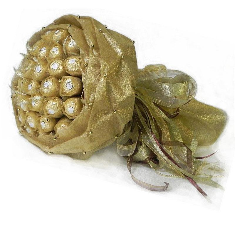 Букет из конфет Ферреро Роше золотой 29