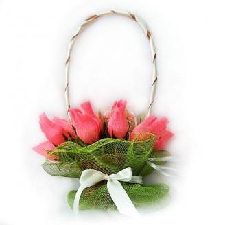 Букет из конфет Коралловые розы