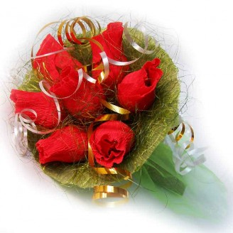 Букет из конфет Красные розы