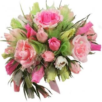 Букет из конфет Розы большой розовый