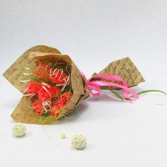 Букет из конфет Розы розовые 7 Крафт