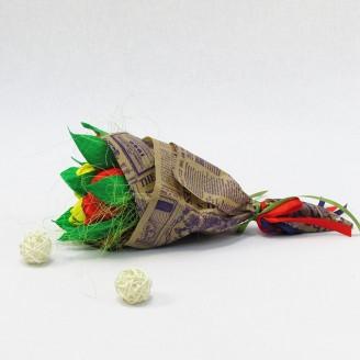 Букет из конфет Тюльпаны 11 Крафт