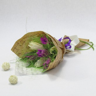 Букет из конфет Тюльпаны 7 Крафт