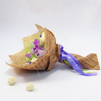 Букет из игрушек Мишки с тюльпанами Крафт