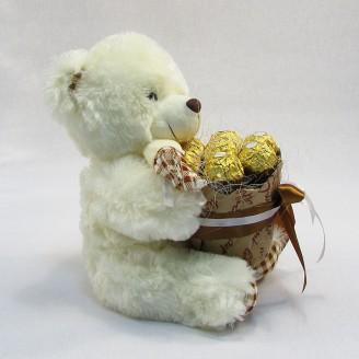 Букет з іграшок Ведмедик з Ферреро роше
