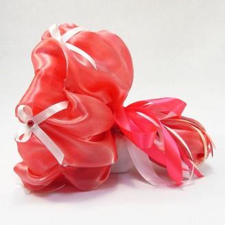 Букет из игрушек Мишки 11 коралловый