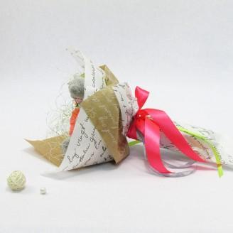Букет из игрушек Мишки Тедди с конфетами в розах