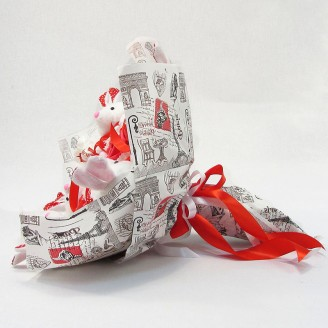 Букет из игрушек Зайки 5 с рафаэлло Крафт